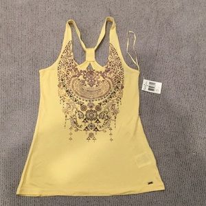 Yellow GUESS racer back tank